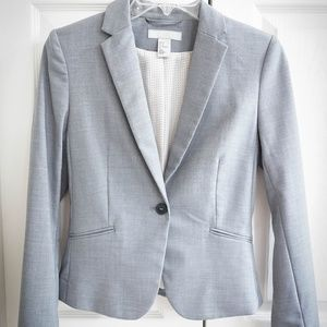 H&M Fitted Grey Blazer